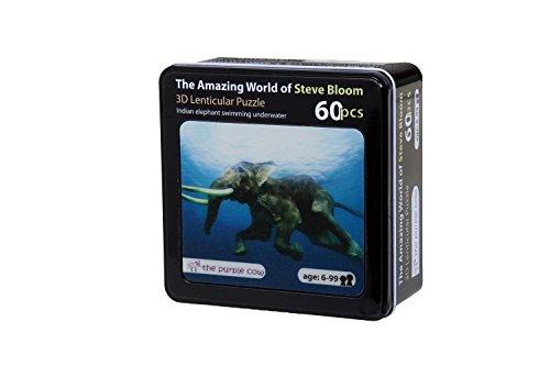 The Purple Cow Lenticular Elephant Swimming Underwater Puzzle