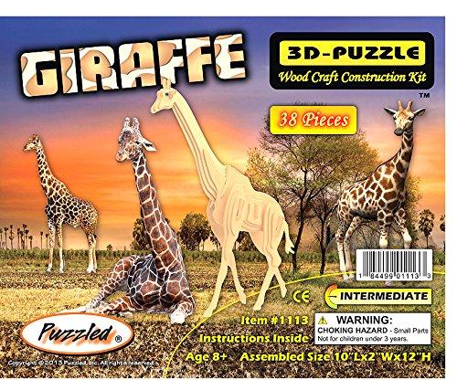 3-D Giraffe Woodcraft Puzzle
