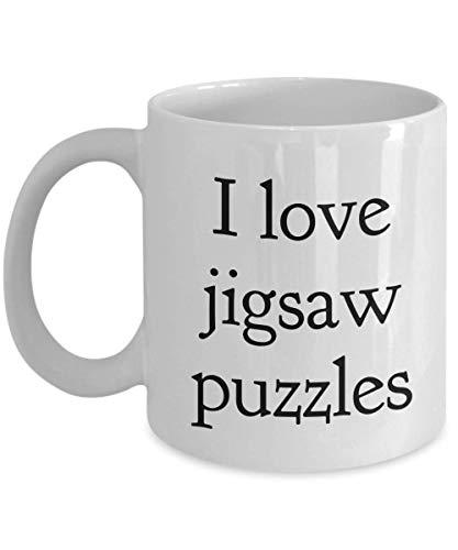 I Love Jigsaw Puzzles Mug - Jigsaw Puzzle Mug - Jigsaw Puzzle Coffee Mug