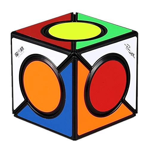 LiangCuber QiYi Six Spot Skewb Black Speed Cube Qiyi MoFangGe Fangyuan Skewb Puzzle Magic Cube Black (2019 New)