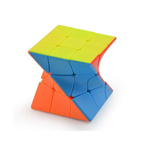 SUN-WAY 3x3x3 Twisty Skewb Cube 3x3 Fisher Skewb Cube Puzzle Twisty 3x3 Stickerless Speed Cube Puzzle Colorful