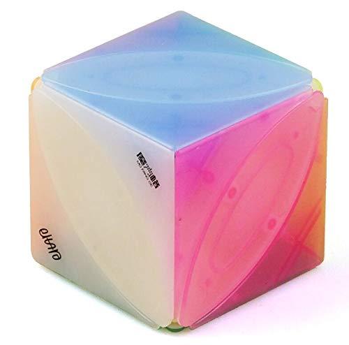 cuberspeed QiYi Ivy Cube Jelly Color Magic Cube Mofangge Ivy Leaf Cube Jelly  Eitan Lvy Cube  qiyi skewb Puzzle