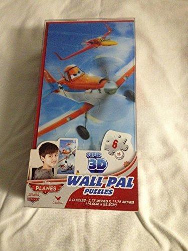 6 Super 3d Wall Pal Lenticular Puzzles - Disney Planes