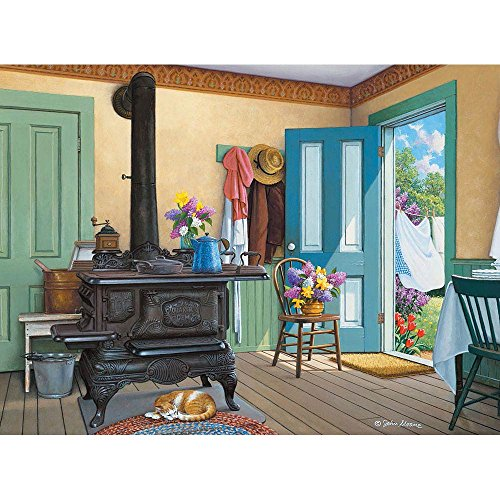 Bits and Pieces - 300 Piece Jigsaw Puzzle - Fresh Air Summer Catnap - by Artist John Sloane - 300 pc Jigsaw