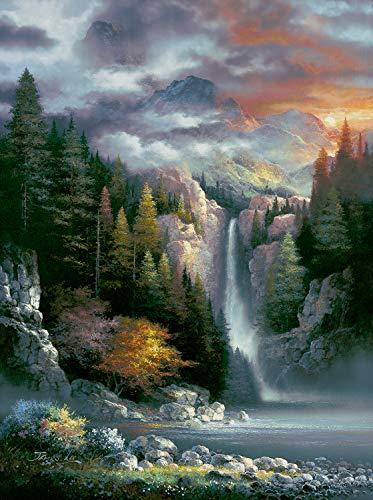 Misty Falls 1000 pc Jigsaw Puzzle by SUNSOUT INC