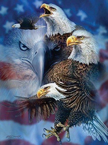 SUNSOUT INC Patriotic Eagles 1000 pc Jigsaw Puzzle