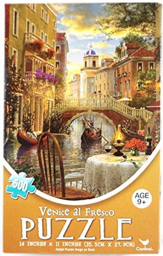 Venice al Fresco Jigsaw Puzzle - Impressionist Feel Vintage Feel 500 Piece Venitian Waterway Gondolier Picture