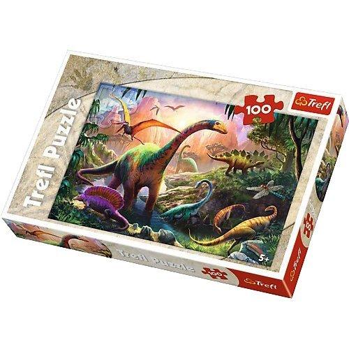 Trefl-16277-Dinosaur Country Jigsaw Puzzle-100Pieces by Trefl
