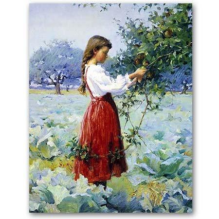 Henrietta Hammond Picking Apples - Masterpiece Jigsaw Puzzle 500pc