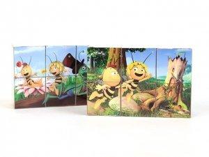 RusToyShop 6psc Plastic Cubes Maya the bee Cartoon Puzzles Children Toys Favorite Cartoon Characters Collect Blocks