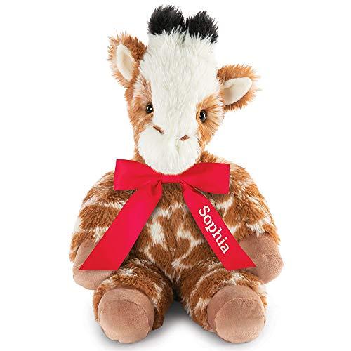 Vermont Teddy Bear Giraffe Stuffed Animal - Stuffed Giraffe Plush 18 Inch Red Oh So Soft