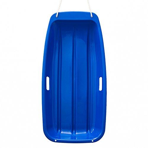 AGPtek Plastic Outdoor Toboggan Snow Sled for Child 35-Inch Blue
