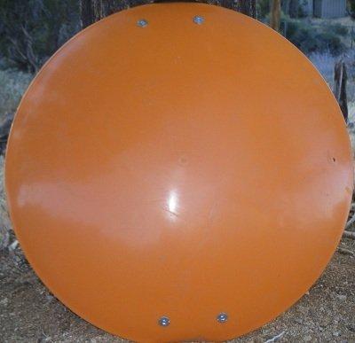 Snow Sled Saucer Heavy Duty Orange