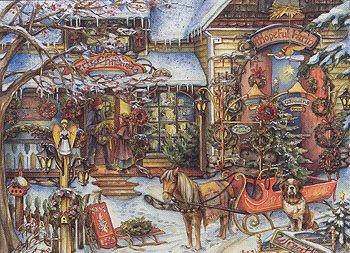Hopeful Farm by Kim Jacobs - 1000 Piece Christmas Themed Puzzle