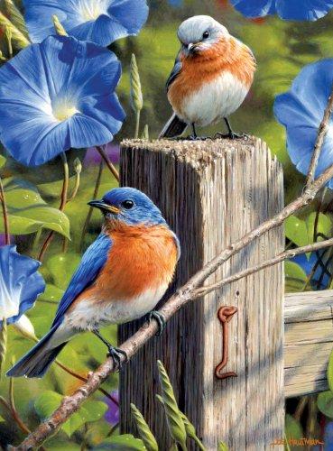 Buffalo Games Hautman Brothers Garden Gate Bluebirds - 1000pc Jigsaw Puzzle