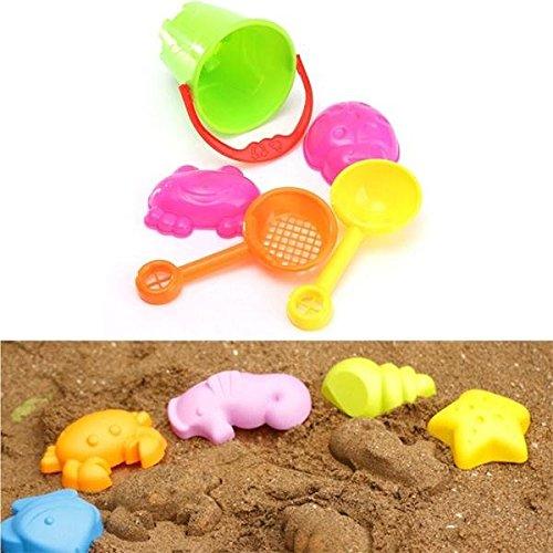 5Pcs Mini Summer Ocean Sand Beach Kids Seaside Toys Castle Swim Bucket Spade Shovel Rake Water Tools
