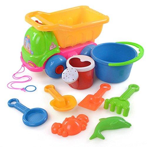 Education toysBaomabao 9Pcs Sand Sandbeach Kids Beach Toys Castle Bucket Spade Shovel Rake Water Tools