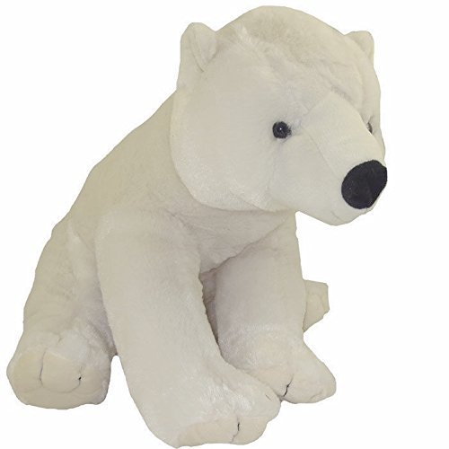 Polar Bear Stuffed Animal Plush 19 High in Sitting Position