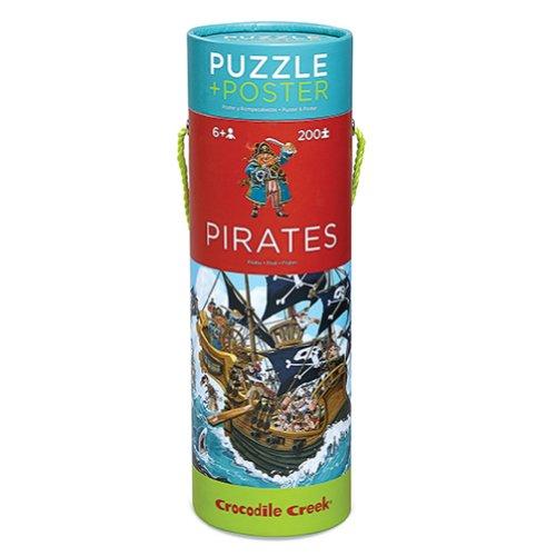 Crocodile Creek Pirates Puzzle Poster - 200 Piece