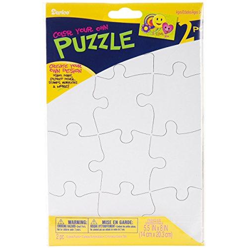Darice PUZ100 12-Piece Puzzle to Color Set 512 by 8-Inch