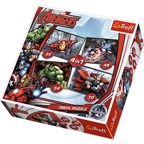 Trefl 4-in-1 Disney Marvel Avengers Puzzle 207 Pieces