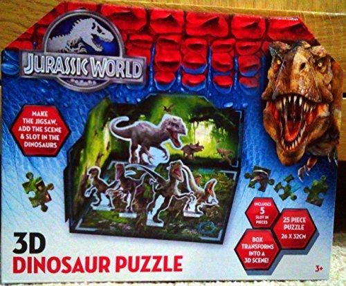 3D Jurassic World Dinosaur 25 Piece Jigsaw Puzzle by Graffix