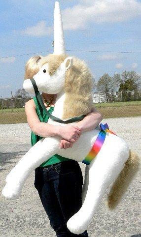American Made Giant Stuffed Unicorn 3 Feet Wide and 3 Feet Tall Big Soft Stuffed Animal Made in USA America