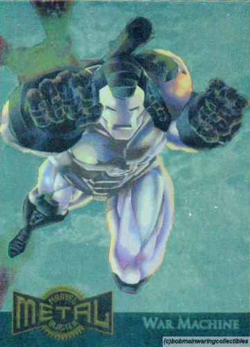 1995 Marvel Metal Gold Blaster Card 17 of 18 War Machine