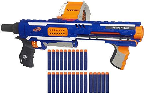 Nerf Rampage N-Strike Elite Toy Blaster with 25 Dart Drum Slam Fire 25 Official Elite Foam Darts for Kids Teens Adults Amazon Exclusive