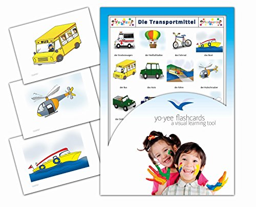 Transportation and Vehicle Flashcards - Bildkarten - Transportmittel
