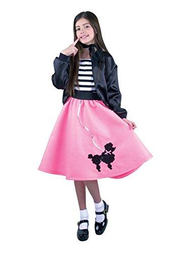 Kids Bubble Gum Pink Poodle Skirt