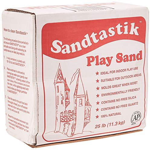 Sandtastik Sparkling White Play Sand 25 Pounds - 25-LB-BOX-REG