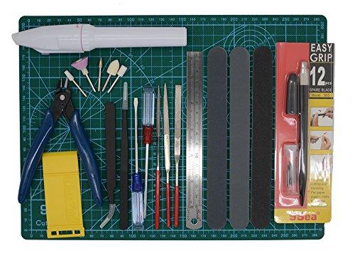 Gundam Modeler Builders Tools Craft Set Kit 16 PCS For Professional Bendai Hobby Model Assemble Building