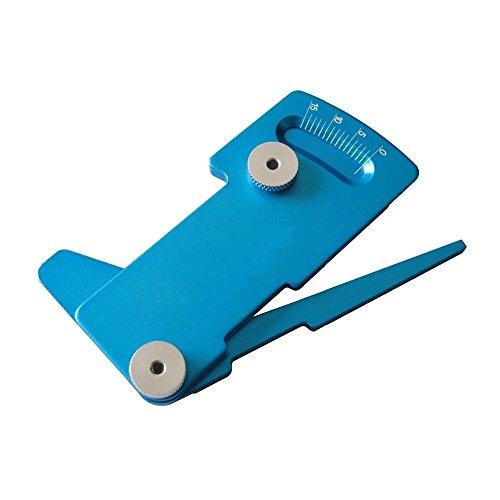 Upgrade Parts Aluminum Camber Ride Height Gauge  Adjustable ruler Blue for HSP RC Model Car Pack of 1