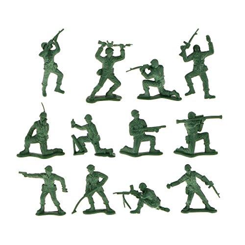 12pcset Plastic Soldier Figures Simulation Decoration Kids Toys