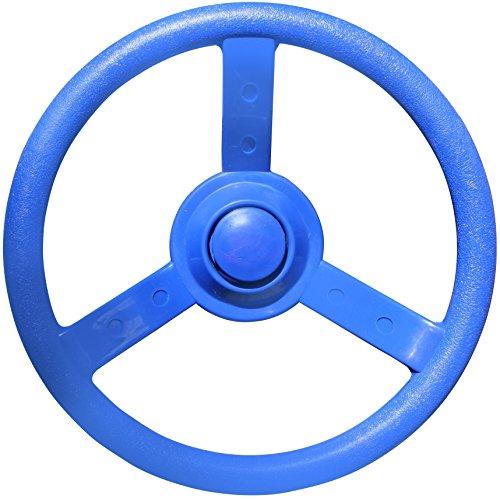 Jungle Gym Kingdom 12 Playground Plastic Steering Wheel - Blue