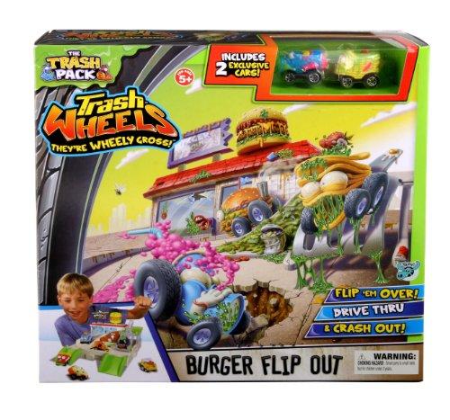Trash Pack Wheels Burger Flip Out Playset
