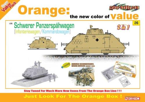 Cyber Hobby 135 Schwerer Panzersphwagen KommandowagenInfanteriewagen 2 in 1  Armored Reconnaissance Figure Set