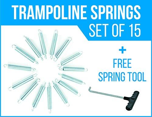 4 Trampoline Springs heavy-duty galvanized Set of 15  Free Spring Tool