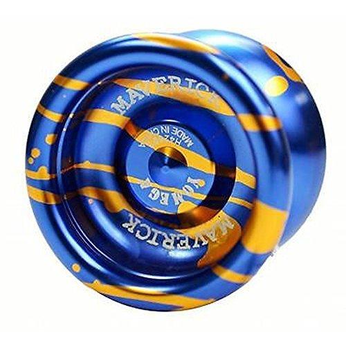 Yomega Maverick Yo-Yo - Blue with Gold Splash
