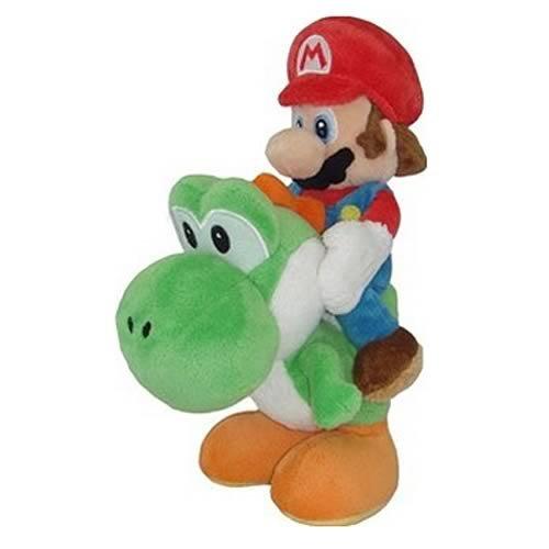 Little Buddy Super Mario Plush - Mario and Yoshi Plush 8-Inch