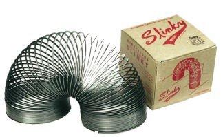 Poof Slinky Collectors Edition Metal Original Slinky Set of 6 Black