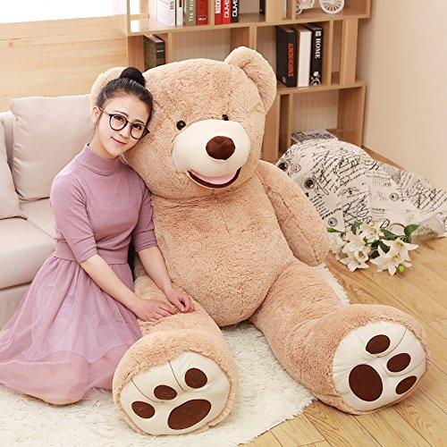 MorisMos Gaint Teddy Bear with Big Footprints Plush Stuffed Animals Light Brown 100CM 39inch