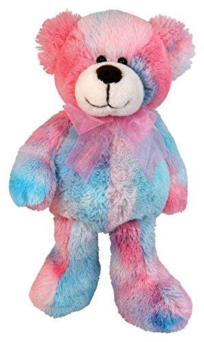 Stephan Baby Soft and Huggable Plush Tie-Dye Teddy Bear Pinks and Blues