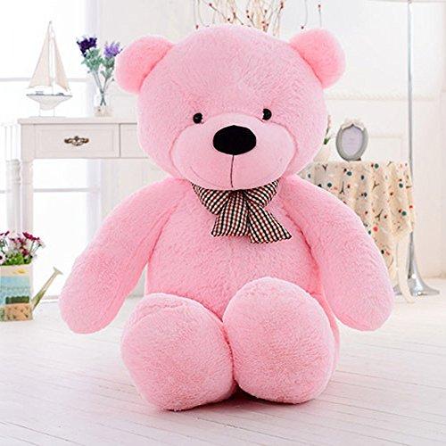 MorisMos Giant Teddy Bear Stuffed Animal Plush Toy for Children Girlfriend Kids 55 14M Pink
