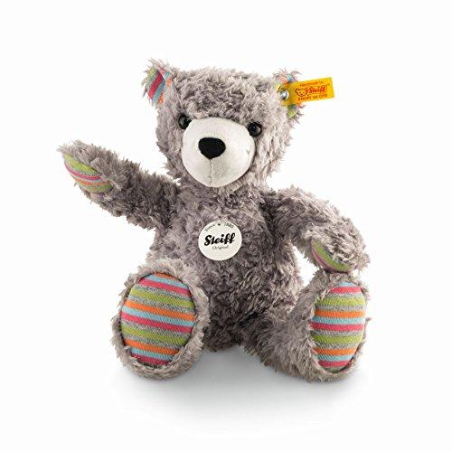 Steiff 109867 Lucky Teddy Bear Plush Animal Toy Grey