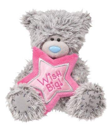 Douglas 6 TATTY TEDDY Happy Birthday Bear With Pink Star