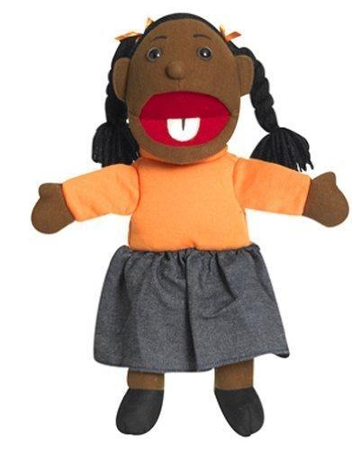 Ethnic Children Puppets - Girl - Dark Tone by Childrens Factory