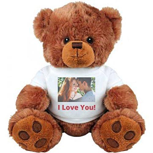 Cute Custom Photo Valentines Bear Gift Medium Plush Teddy Bear