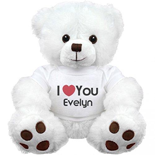I Heart You Evelyn Love Medium Plush Teddy Bear